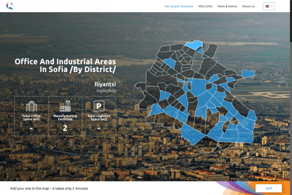 Sofia Investment Agency Presents a new Online Map of the Office and Industrial Areas in Sofia