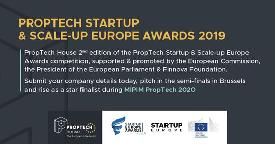Call for Application to the PropTech StartUp & Scaleup Europe Awards