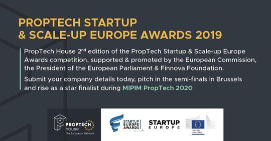 Тече кандидатстването за PropTech StartUp & Scaleup Europe Awards 2019